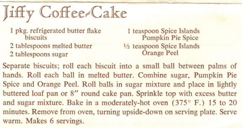 Recipe For Jiffy Coffee Cake