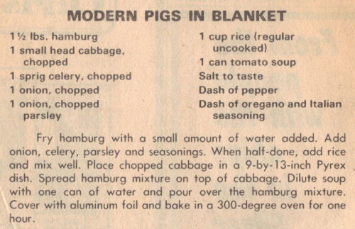 Recipe Clipping For Modern Pigs In Blanket