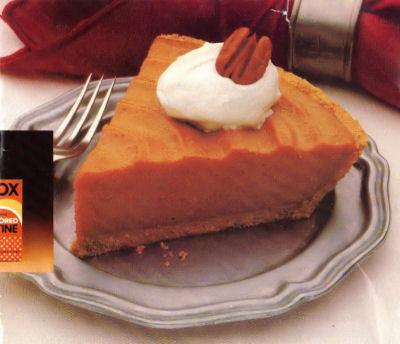 Recipe Clipping For No-Bake Pumpkin Pie