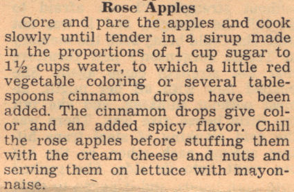 Recipe Clipping For Rose Apples