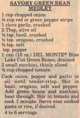 Savory Green Bean Medley Recipe