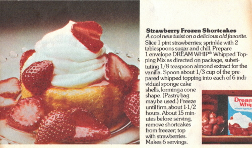 Recipe Card For Strawberry Frozen Shortcakes