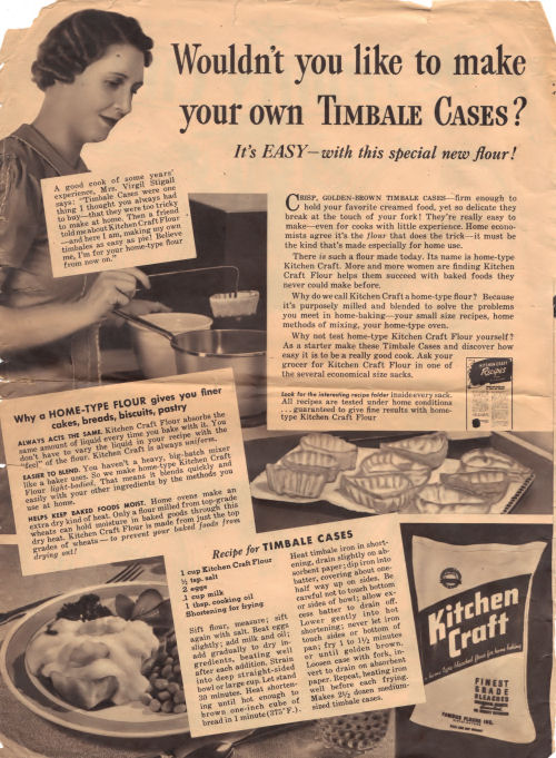 Full Page Ad For Making Timbale Cases
