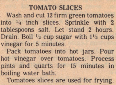 Instructions For Canning Tomato Slices