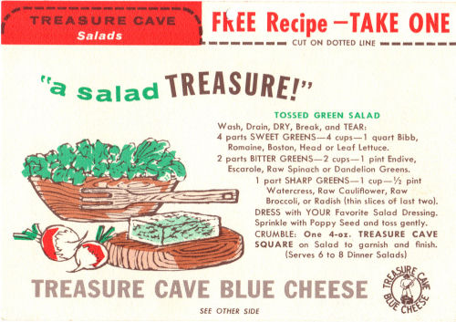 Recipe Card For Tossed Green Salad