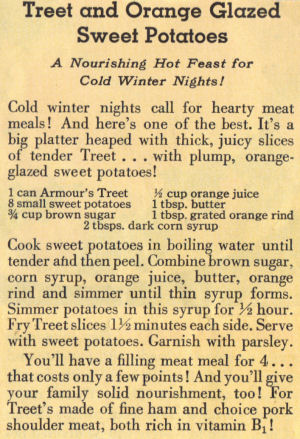 Recipe Clipping For Treet And Orange Glazed Sweet Potatoes
