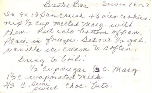 Part 1 Of Buster Bar Recipe
