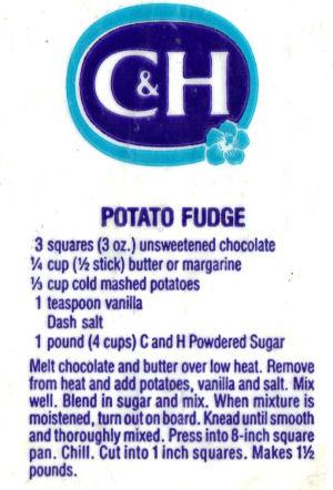 Recipe Clipping For Potato Fudge