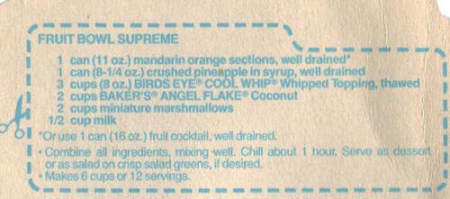 Recipe For Fruit Bowl Supreme