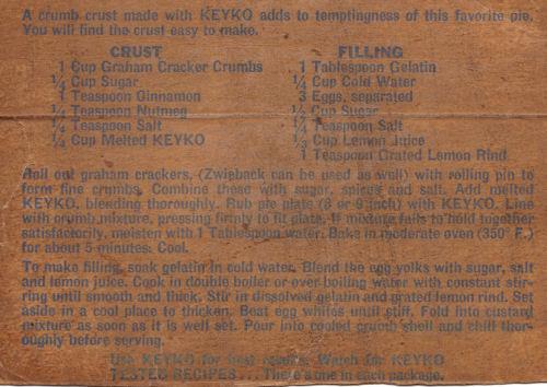 Recipe For Lemon Chiffon Pie - Keyko