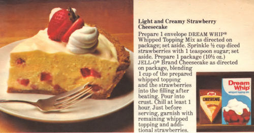 Recipe Card For Light & Creamy Strawberry Cheesecake