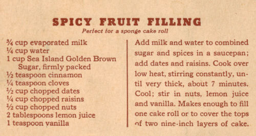 Recipe Clipping For Spicy Fruit Filling