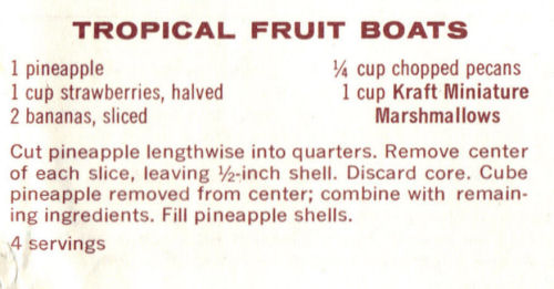 Recipe Clipping For Tropical Fruit Boats