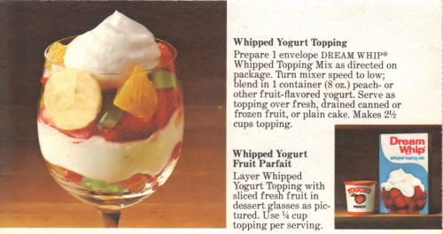 Recipe Card For Whipped Yogurt Topping