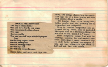 Cookie Jar Brownies Recipe Card - Click To View Large