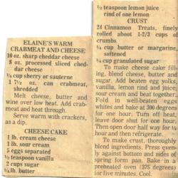 Crabmeat & Cheese Clipping - Recipecurio.com