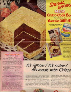 Crosco's Chocolate Cake Vintage Recipe - Click To View Larger