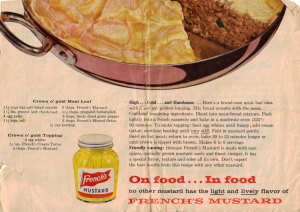 French's Mustard Recipe Advertisement - Click To View Larger