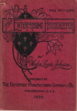 The Enterprising Housekeeper - 1898 Issue - Click To View Larger