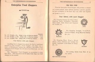 Antique Food Choppers - The Enterprising Housekeeper - Click To View Larger