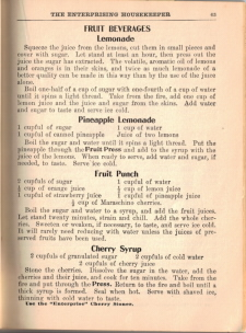 Fruit Beverage Recipes - The Enterprising Housekeeper - Click To View Larger