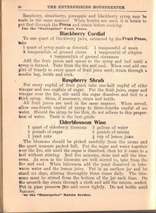 More Old Fruit Beverage Recipes - The Enterprising Housekeeper - Click To View Larger