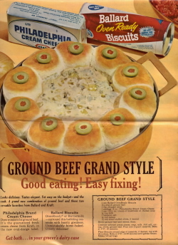 Ground Beef Grand Style Vintage Recipe - Click To View Larger