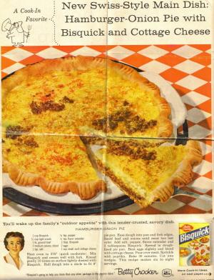 Hamburger Onion Pie 1959 Clipping