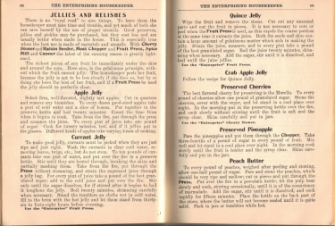 Jellies & Relishes Recipes - The Enterprising Housekeeper - Click To View Larger