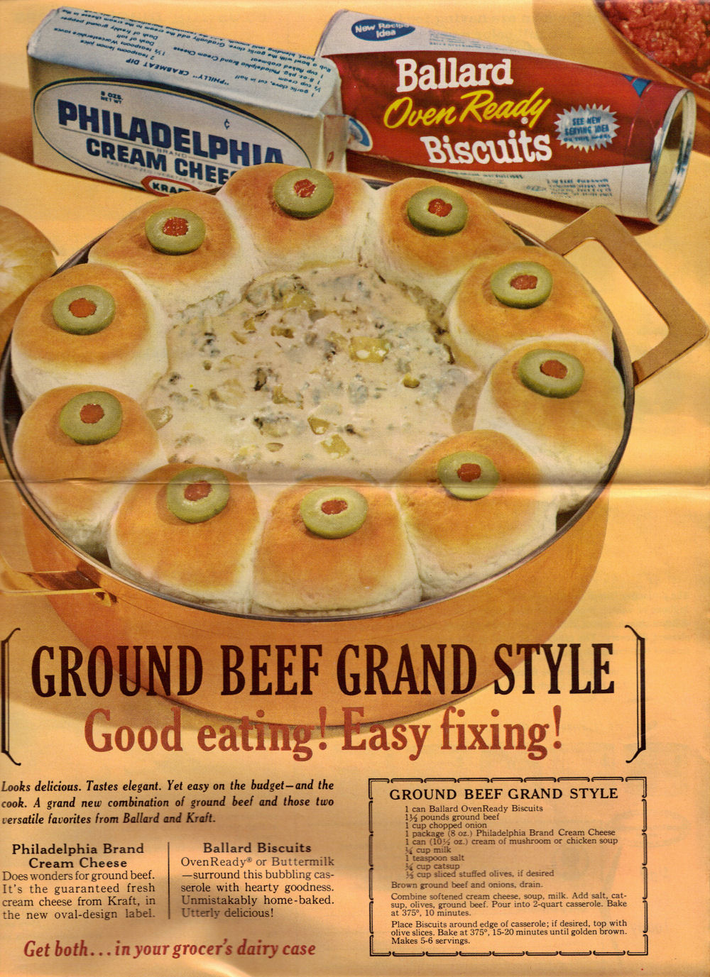 Ground Beef Grand Style Vintage Recipe Clipping 171 Recipecurio Com