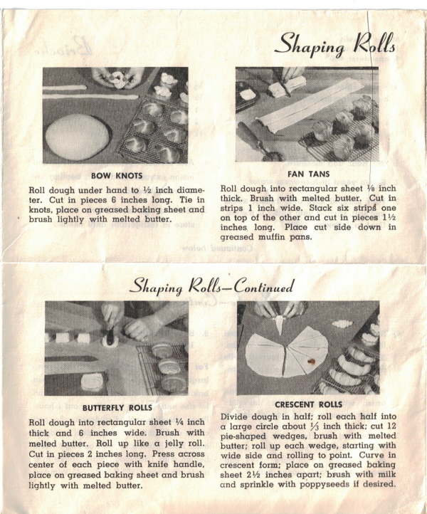 Yeast Rolls And Tempting Coffee Cakes Vintage Recipes