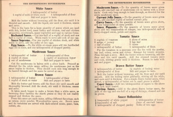 Meat & Fish Sauce Recipes - The Enterprising Housekeeper - Click To View Larger