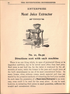Enterprise Meat Juice Extractor - The Enterprising Housekeeper - Click To View Larger