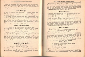 Mutton And Lamb Recipe - The Enterprising Housekeeper - Click To View Large