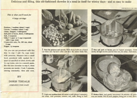 Vintage Recipe Clipping of Old Fashioned Chowder - Click To View Larger