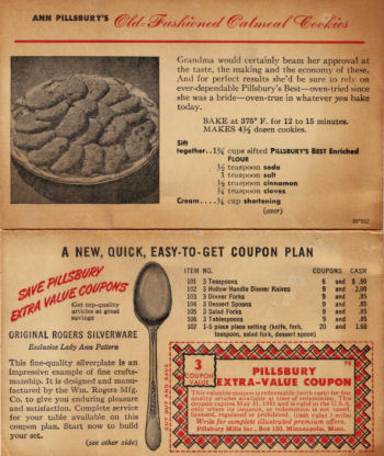 Old Fashioned Oatmeal Recipe Card - Click To View Larger