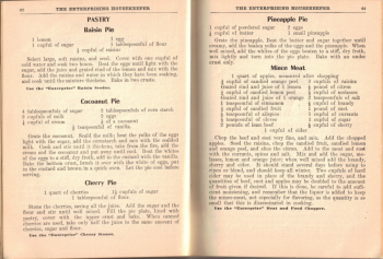 Pastry Recipes - The Enterprising Housekeeper - Click To View Larger