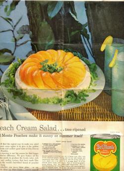Peach Cream Salad Recipe - Recipecurio.com