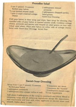 Pearadise Salad Vintage Clipping