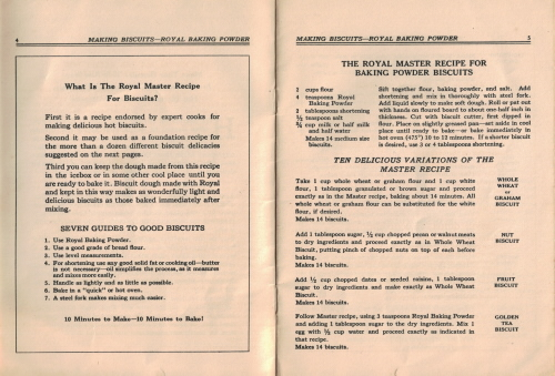 The Royal Master Recipe For Biscuits - Click To View Larger