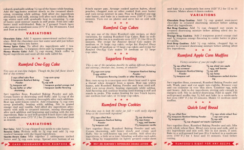 Rumford Sugarless Recipes - Side 2 - Click To View Large