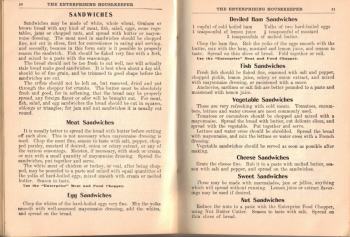 Sandwich Tips & Recipes - The Enterprising Housekeeper - Click To View Larger