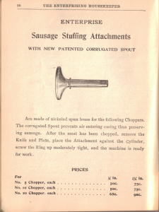 Antique Sausage Stuffing Attachments Illustration - Click To View Larger