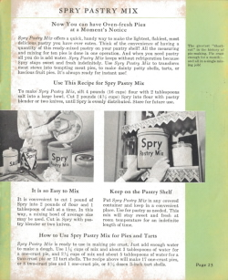 Spry Pastry Mix - Spry: What Shall I Cook Today - Click To View Larger