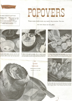 Woman's Home Companion Popovers - Click To View Larger Image